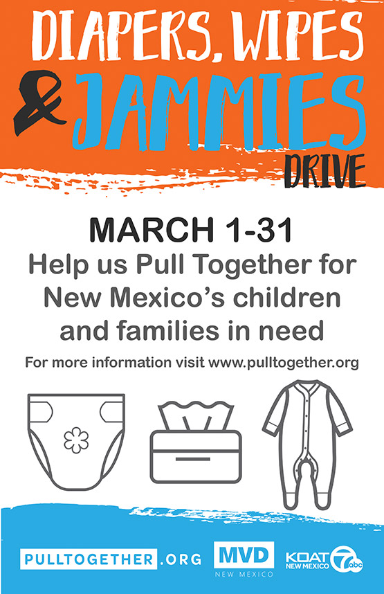 Diaper, wipes & jammies drive: March 1-31