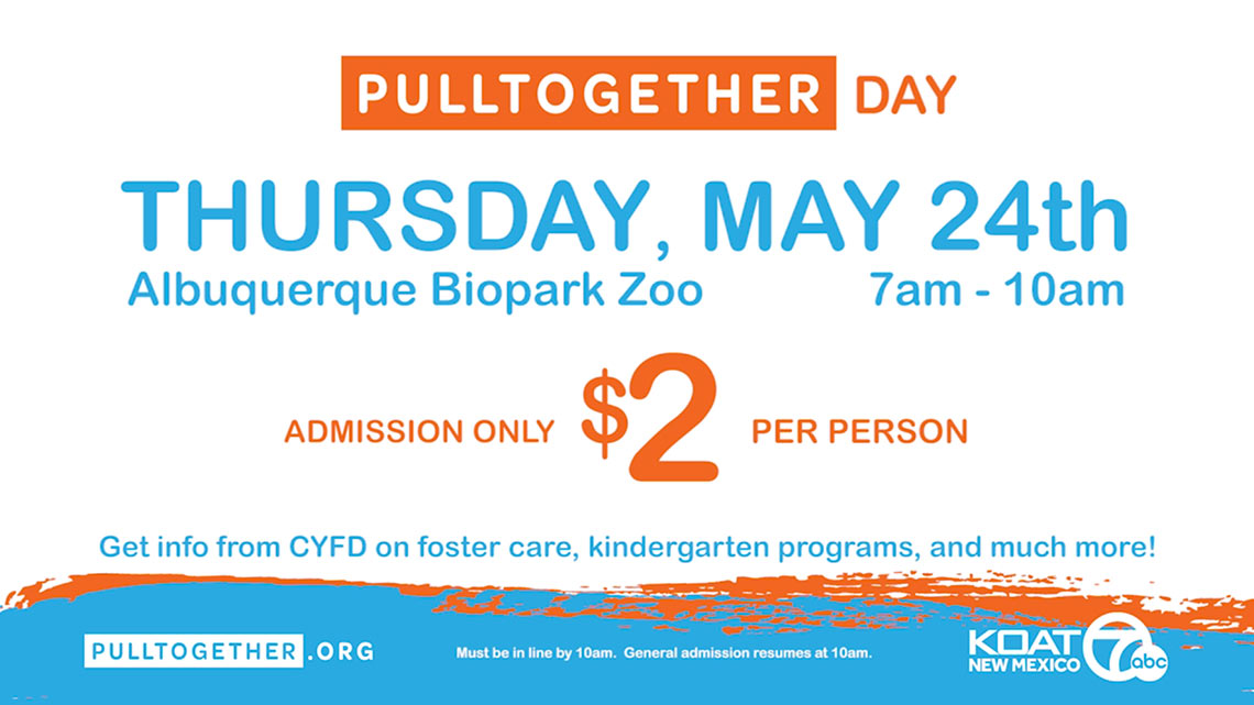 Pull Together Day, May 24th, Albuquerque Biopark Zoo, 7am-10am